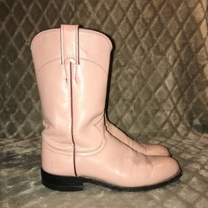 Justin Ropers Dusty Rose cowgirl boots